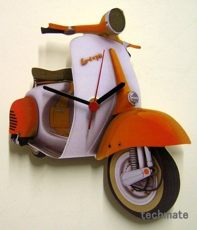 vespa wall clock