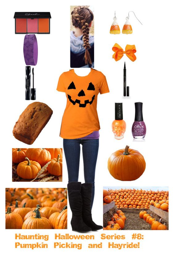 """Haunting Halloween Series #8: Pumpkin Picking and Hayride!"" by kittylover800 ❤ liked on Polyvore featuring Frame Denim, Lucy, Gaiam, ORLY, Shiseido and Elizabeth Arden"