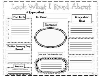 graphic organizer for report writing