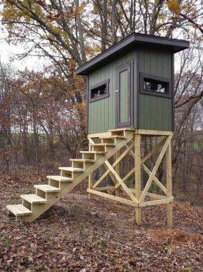 Deer Shooting House Plans Numberedtype Deer Stand Deer Hunting Stands Hunting Stands