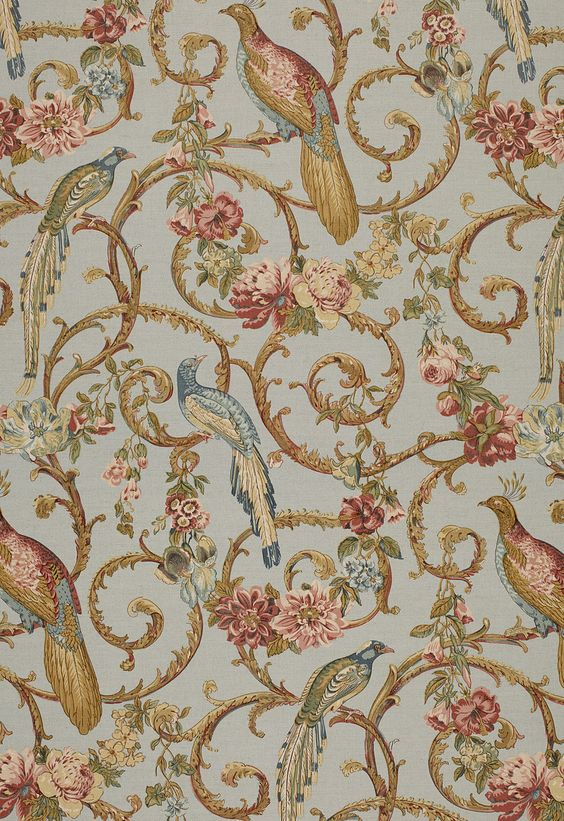 Schumacher Madrigal Sky Fabric Cotton Fabrics And Search