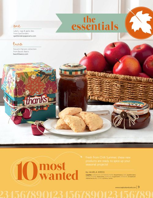 Scrapbook & Cards Today - Canada's scrapbooking magazine - 10 Most Wanted - Fall 2013 - Includes @Spellbinders and Bazzill Basics