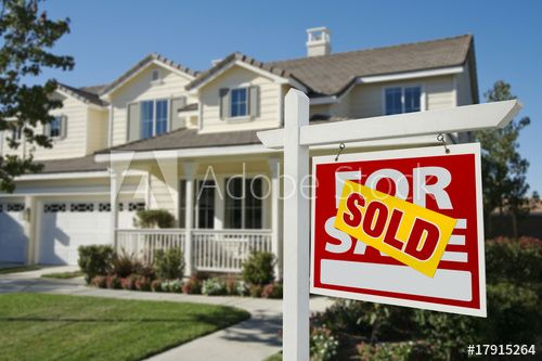 Sold Home For Sale Sign In Front Of New House In 2021 Selling House Sell Your House Fast Sell My House Fast