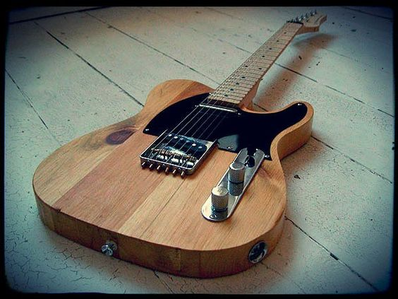 Creamery Custom Handmade Pine Telecaster Guitar - 'The Plank' (Made from reclaimed wood)