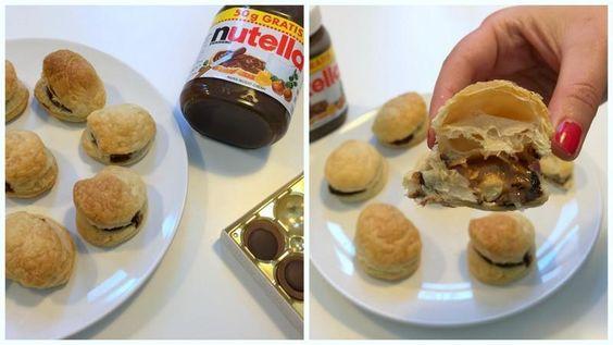 Toffifee Nutella Blätterteigtaschen