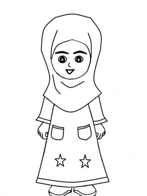 26 Gambar Kartun Berhijab Untuk Diwarnai Gambar Lucu Kartun Anak Perempuan Tulisan Lucu Download Gambar Mewarnai Orang B Kartun Hijab Gambar Kartun Kartun