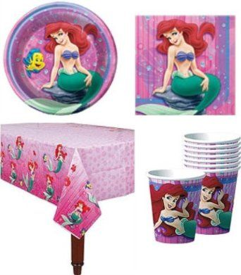 Amazon.com: Little Mermaid Party Pack Supplies for 16 Guests: Toys & Games