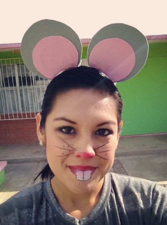 Maquillaje de raton Mouse make up for children plays