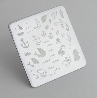 Clear Jelly Stamper- Mermaid Doodle #1 (24)