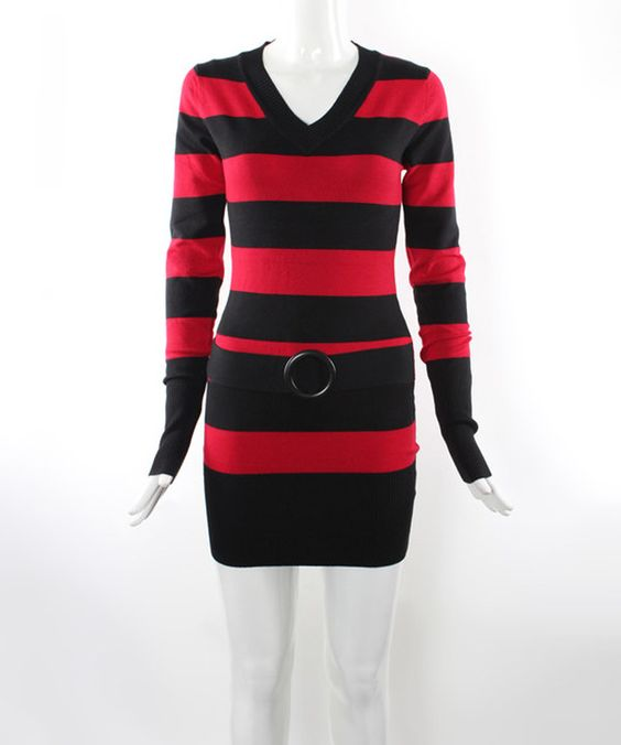 Another great find on #zulily! Red & Black Bold Stripe Sweater by 3R Street Wear #zulilyfinds