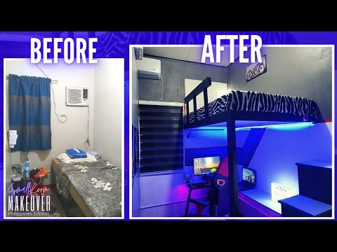 Diy Loft Bed Extreme Small Budget Gaming Room Makeover Philippines Youtube In 2021 Diy Loft Bed Small Room Diy Loft Beds For Small Rooms
