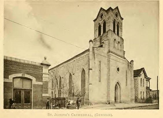 Ca 1892 St Joseph S Catholic Church Before It Was