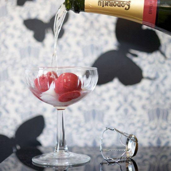 Black Pepper-Raspberry Sorbet with Prosecco | Food & Wine