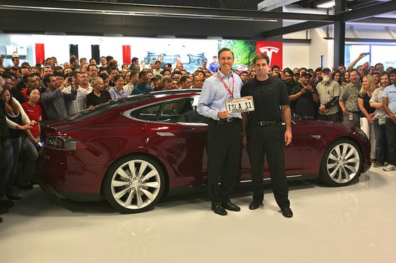 Taking delivery of the first Model S by jurvetson, via Flickr
