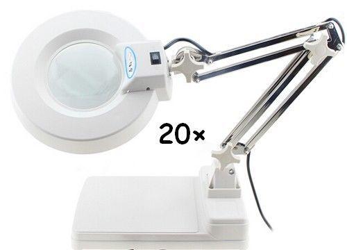 110v 20x Magnifier Led Lamp Light Magnifying White Glass Lens Desk Table Magnifying Desk Lamp Lamp Light Magnifier