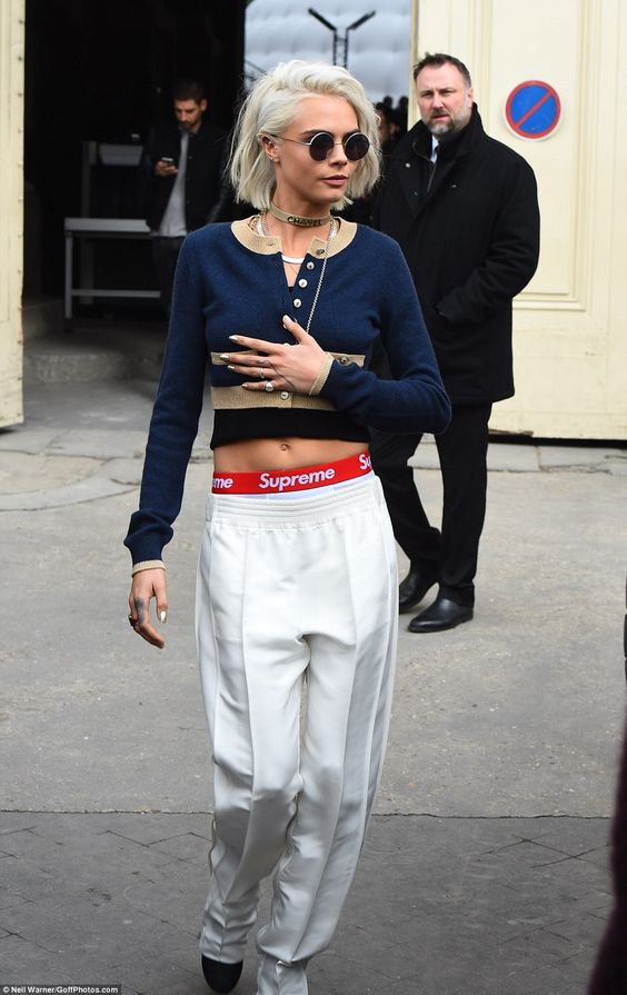 She's got the look: Cara looked effortlessly stylish as she made sure all eyes were on her...: