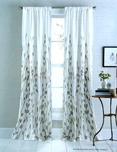 DKNY City Blossom Floral Road Pocket Curtains 100% Cotton 50 by 96 ...