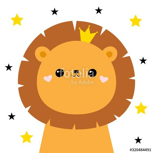 Lion Face Head Icon Cute Kawaii Animal Golden Crown Star Sparkle Cute Cartoon Funny Baby Character Kids Pr In 2020 Cute Kawaii Animals Kawaii Animals Funny Babies A lion with a crown in a leafy frame vector. lion face head icon cute kawaii animal