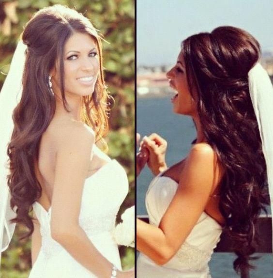Gorgeous wedding hair #hairstyle #bride #bridal half up do…