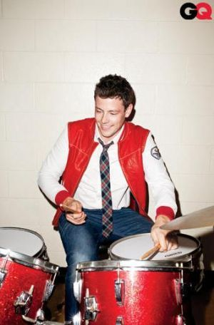 Cory Monteith, Glee, drummer GQ