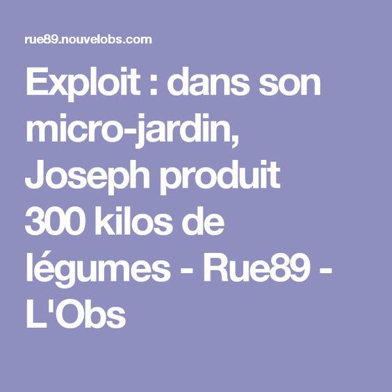 Exploit: dans son micro-jardin, Joseph produit 300kilos de légumes - Rue89 - L'Obs