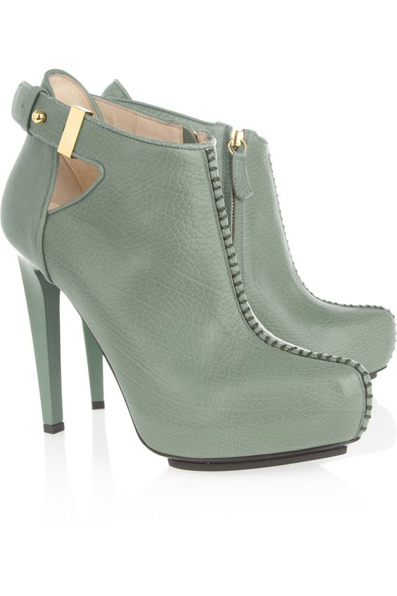Burak Uyan Textured-leather ankle boots