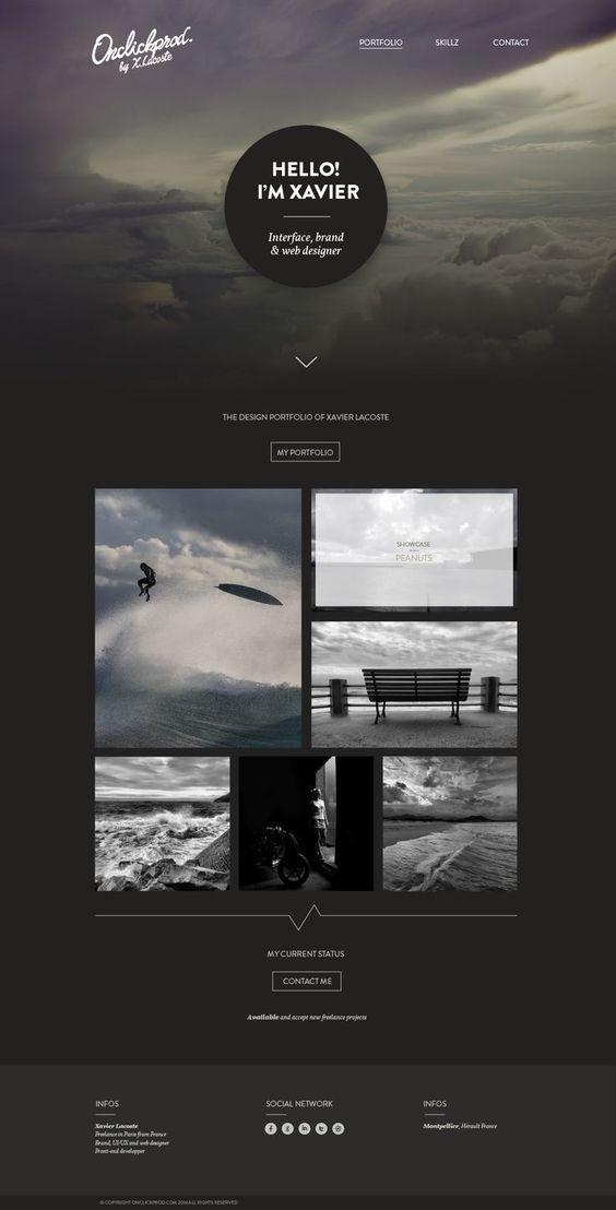 25 présentations originales pour des web design en full-page | Blog du Webdesign #webdesign #typography