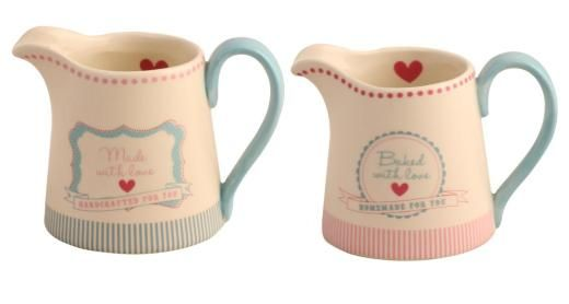 Gisela Graham Ceramic With Love Milk Jug -A great range of Cooking And Baking gifts and homewares from The Contemporary Home Online Shop