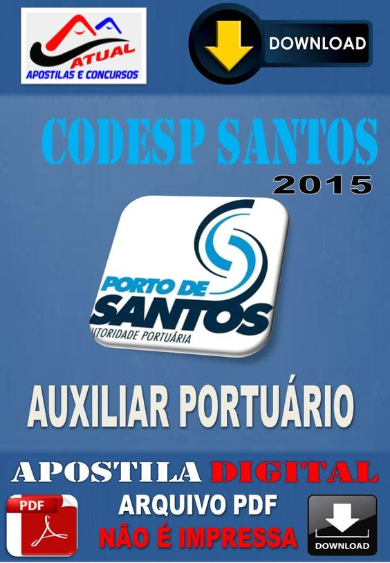Apostila Concurso Codesp Tecnico Portuario Administrativo 2017