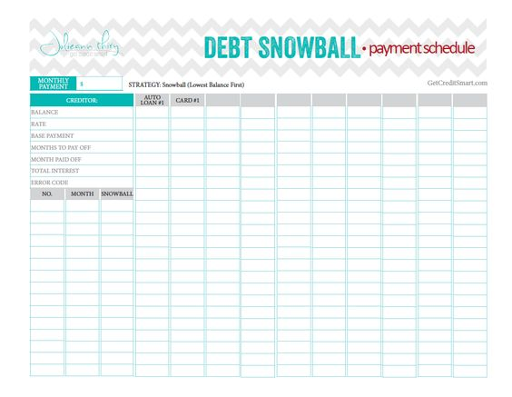 Debt Snowball Spreadsheet @ Moneyspot.org
