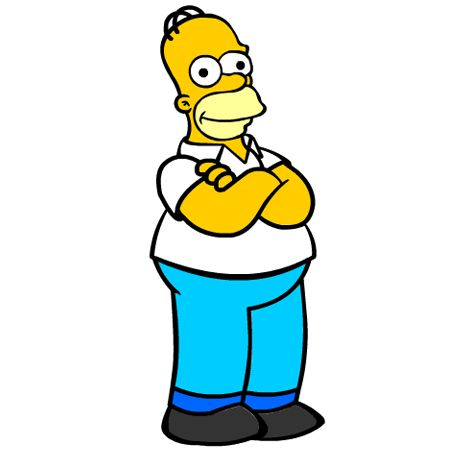 Coloriage homer simpson a imprimer dessin colorier et - Dessiner marge simpson ...