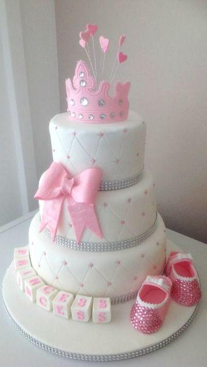 Pastel de #BabyShower inspirado en princesas.: