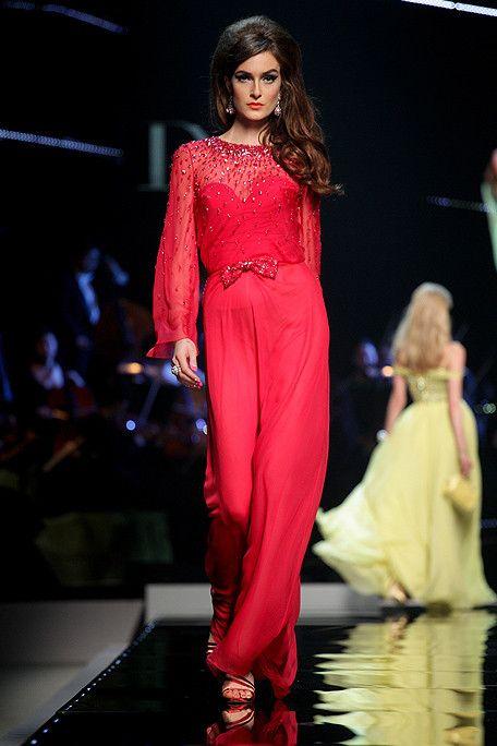 Dior Resort Collection 2011 RTW #dior #fashion #red