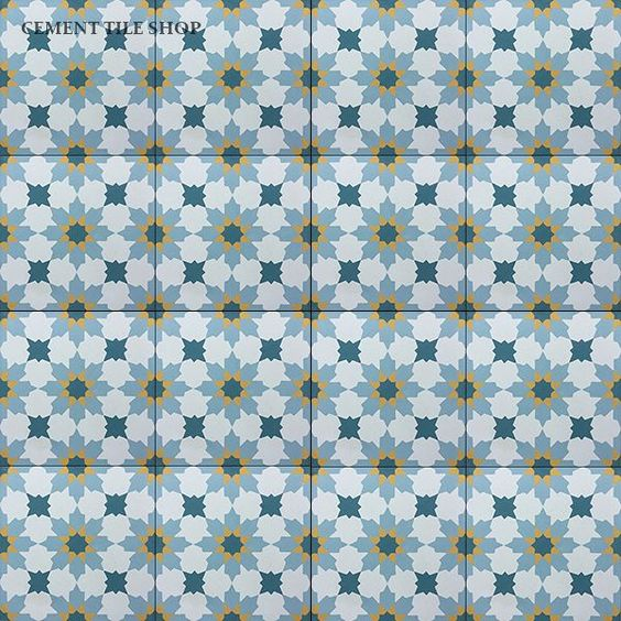 Like this pattern and color, and would pair it with marmoleum color Adriatica Cement Tile Shop - Encaustic Cement Tile Rabat Gold: