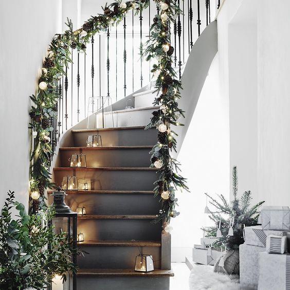 Top Ten Nordic / Scandinavian Christmas Hallway Ideas