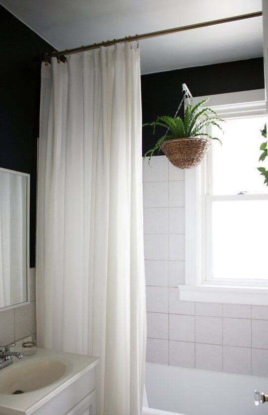 30 Elegant Bathroom Curtain Ideas 2020 You Should Try White Shower Curtain Apartment Bathroom Simple Bathroom