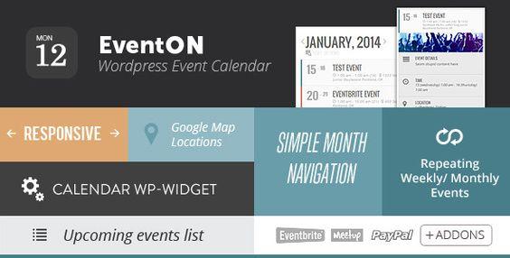 Download EventOn v2212 u2013 WordPress Event Calendar Plugin - event calendar