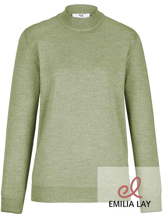 Stehbund-Pullover mit gedoppeltem Kragen von Peter Hahn