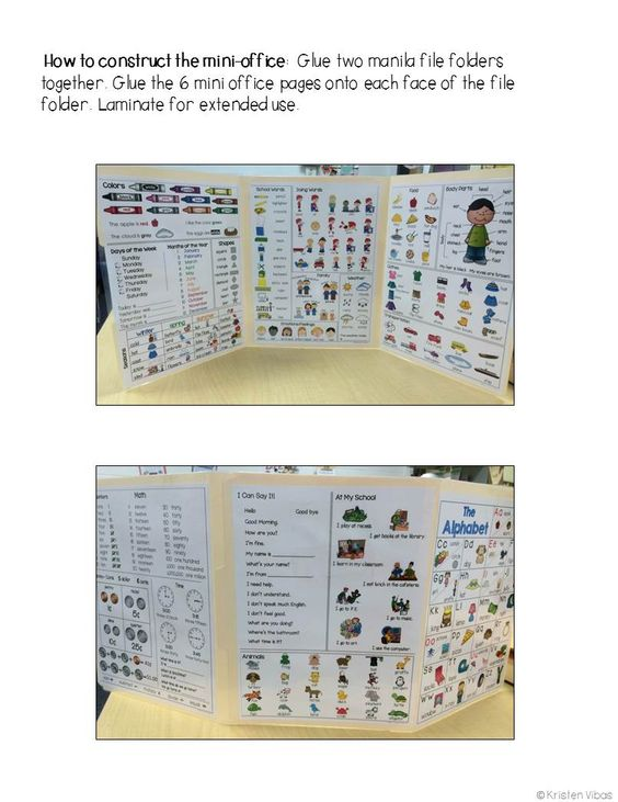 Mini Office: this vocabulary mini office is the perfect resource to support your beginning English Language Learners. The visuals provide the comprehensible input Newcomers need when learning English vocabulary.  Also PERFECT as a primary writing resource!