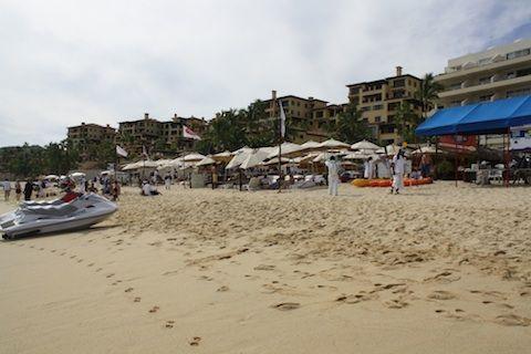 Beach chairs on Medano Beach