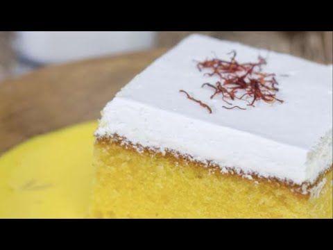 كيكة الزعفران Youtube Arabic Dessert Milk Cake Arabic Food