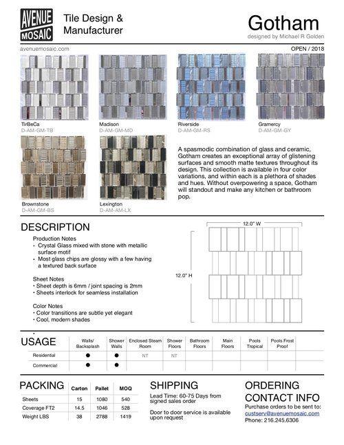 Gotham Pdf Golden Design Tile Manufacturers Mosaic