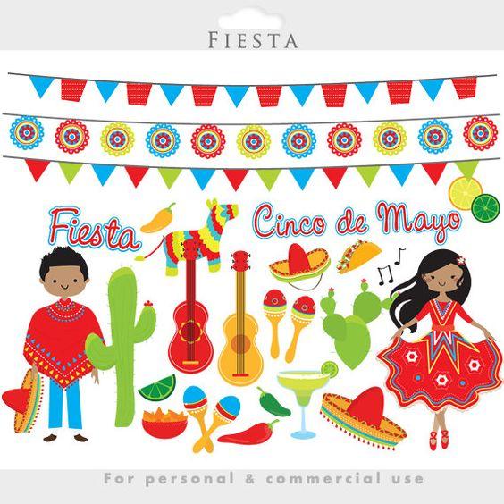 Clip Art Fiesta Clip Art fiesta clipart mexican cinco de mayo flags dancing pinata guitars