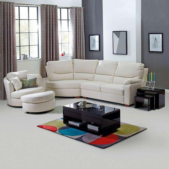 Soho Black Living Furniture Collection   Dunelm