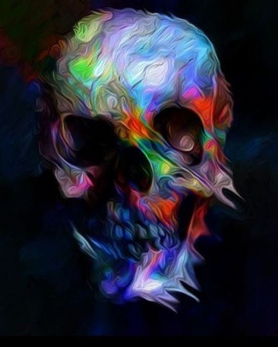 Rocknrox Sugar Skull Artwork Skull Wallpaper Skull Artwork