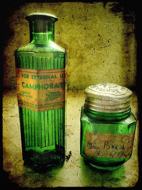 Green Medicine Bottles: