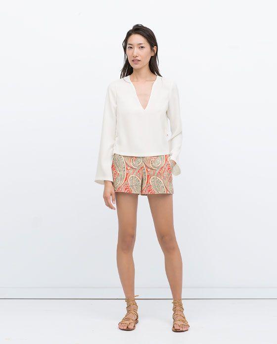 mejor sitio web 43903 cb95a pantalones cortos mujer en zara