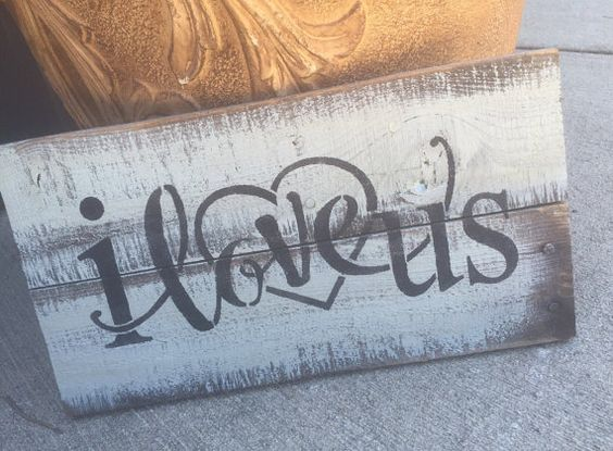 I love us Wood Sign Wedding Sign Love by HiggiHouse on Etsy