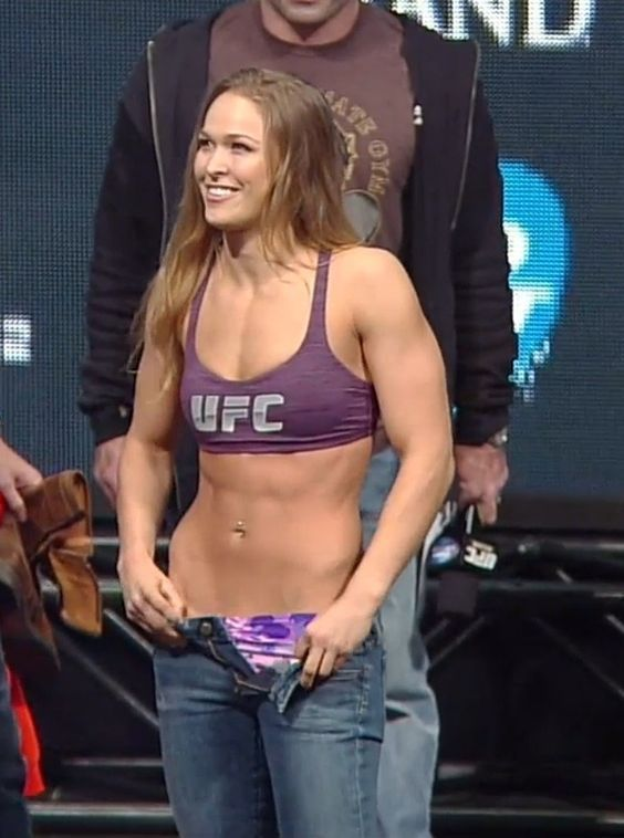 Ronda Rousey looking good at weigh-ins and playing it up to the ...