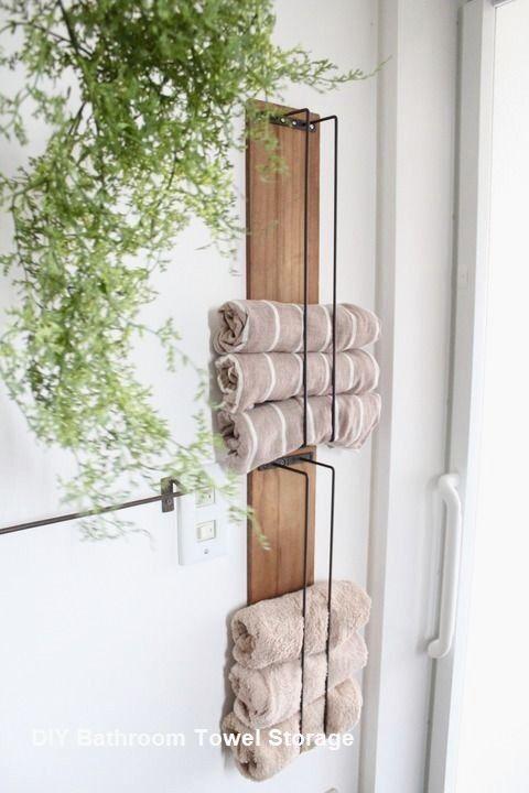 Diy Bathroom Towel Storage Ideas Diy Bathroom Storage Diy Bathroom Design Bathroom Towel Storage